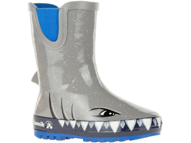 Kamik Sharky Stivali di gomma Bambino, cloud grey
